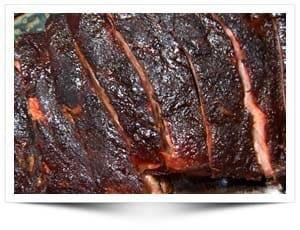 Spare ribs iets langer gerookt